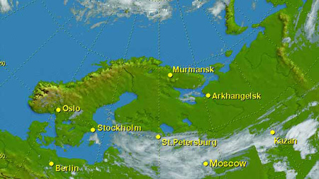 Northern Dvina river where Dvina River Russia Map
